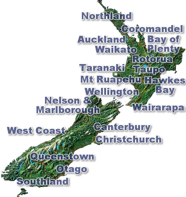 Discover New Zealand Regions